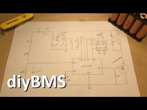 Lithium Ion Battery Management - diyBMS - 12v Solar Shed