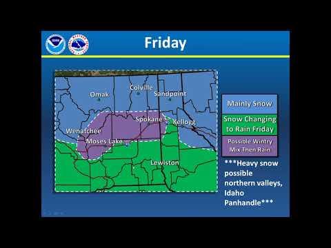 NWS Spokane Weekly weather briefing - Dec 26, 2017
