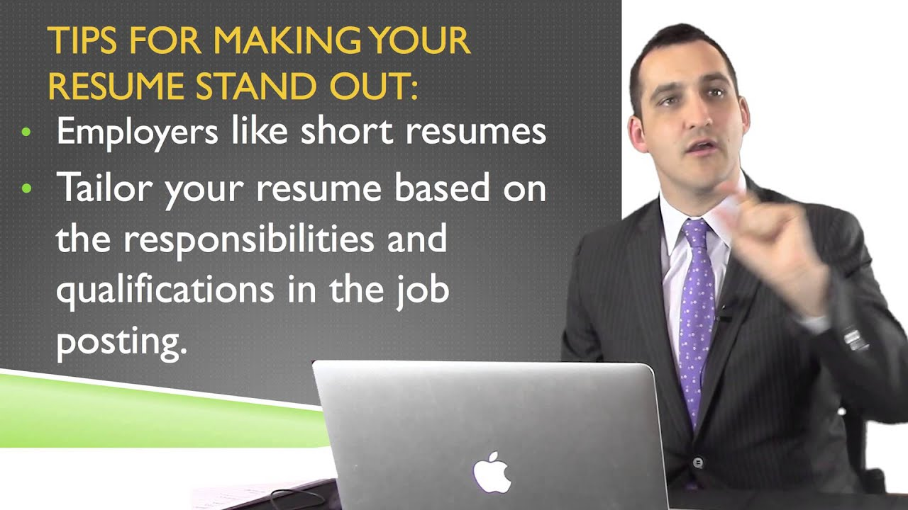 2.20 How To Make Your Resume Stand Out   Create An Expert LinkedIn Profile  For Job Search   YouTube  How To Make Your Resume Stand Out