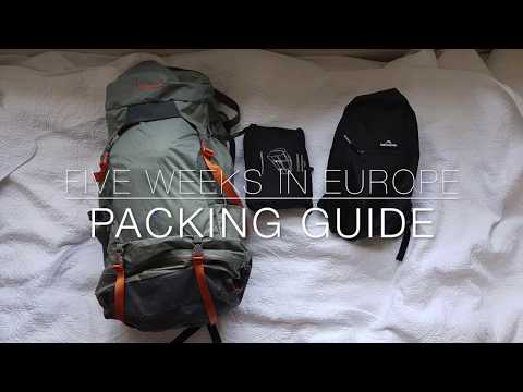 BACKPACKING packing guide for 5 weeks travel in Europe!