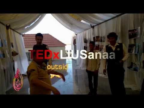 ‏ ‎TEDxLIUSanaa outside the showroom & outside the flame