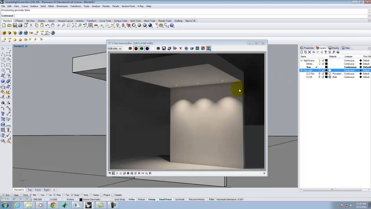 Lecture 222 - Introduction to Lights and Lighting in V-Ray for Rhino -  Spring 2015