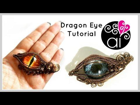 Dragon Eye | Tutorial Wire Wrapping | DIY Evil Eye Jewelry