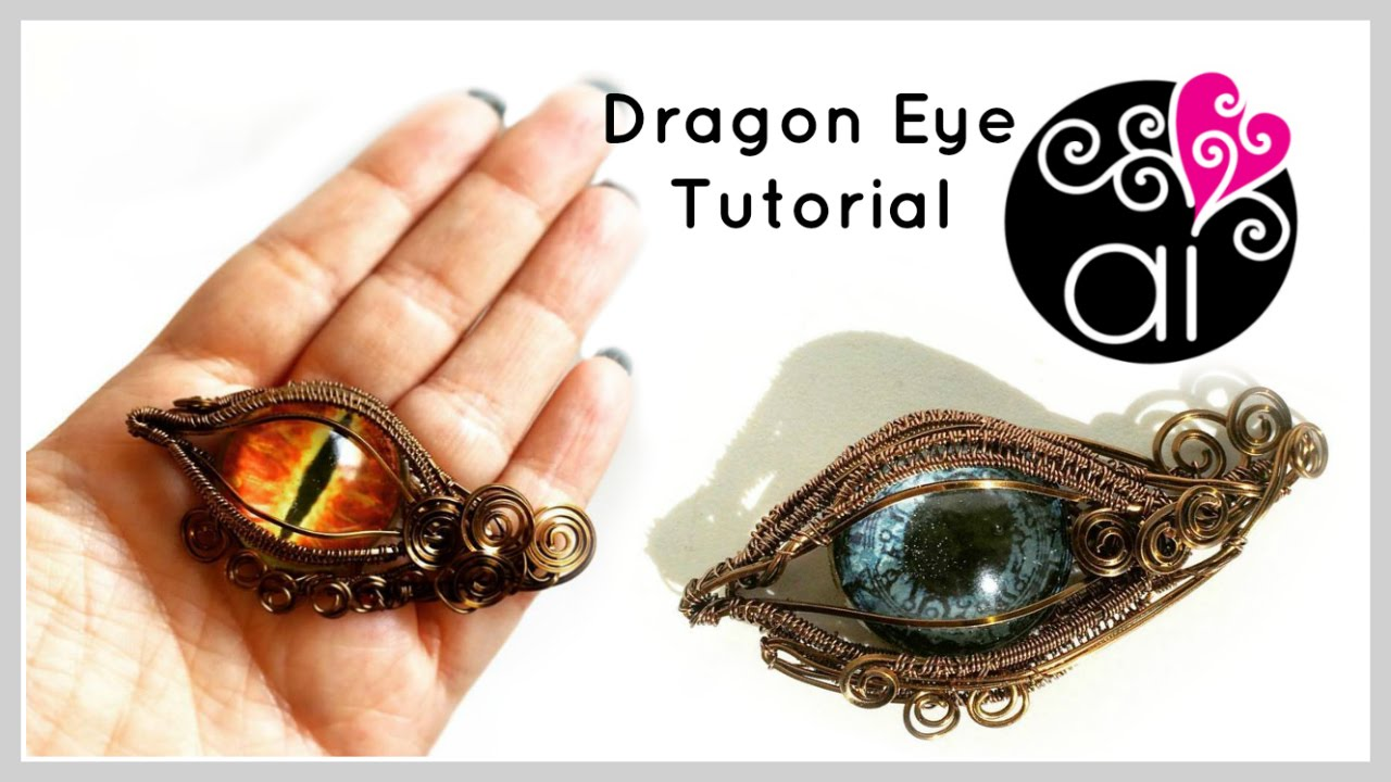Dragon Eye | Tutorial Wire Wrapping | DIY Evil Eye Jewelry - YouTube