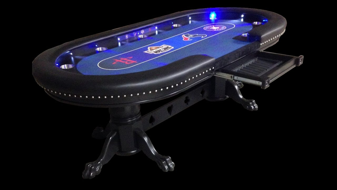Bon Custom Poker Tables With A Sports Theme #2   YouTube