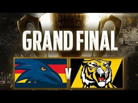 2017 AFL GRAND FINAL LIVE REACTION - Adelaide v Richmond