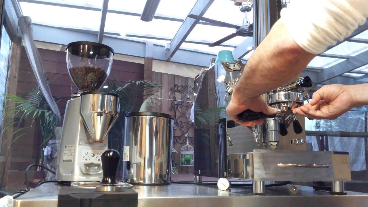 Naked Portafilter on Vibiemme Domobar Super Lever Coffee