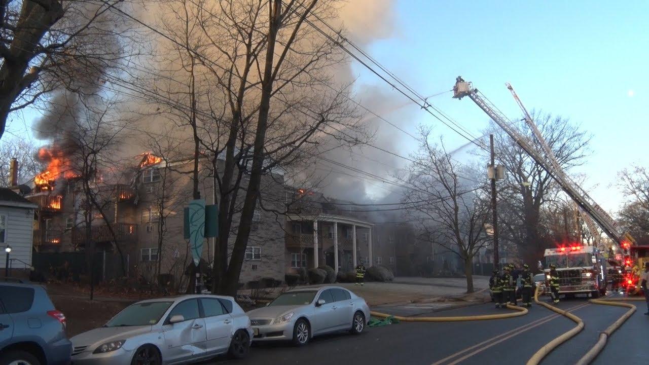 Roselle,NJ Fire Department 3rd Alarm 2/3/18 - YouTube