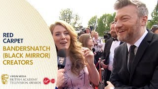 Charlie Brooker & Annabel Jones on Making Bandersnatch (Black Mirror) BAFTA TV Awards 2019