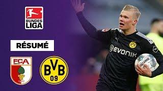 Résumé : D'un triplé fou, Haaland sauve le Borussia Dortmund contre Augsbourg