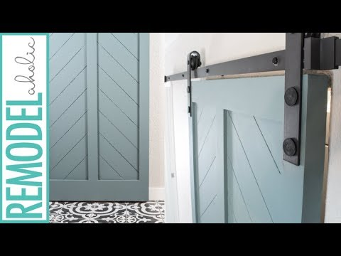 How to make a diy barn door from an interior door youtube - How to make an interior barn door ...