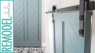 How to Make a DIY Barn Door from an Interior Door
