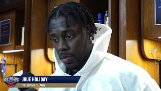 Jrue Holiday tlaks about the win vs warriors | New Orleans Pelicans vs Golden State Warriors