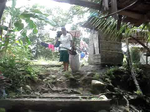 Christmas gift giving Lopez Jaena, Mindanao, Philippines part one.wmv