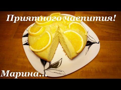Бисквит в мультиварке с апельсином