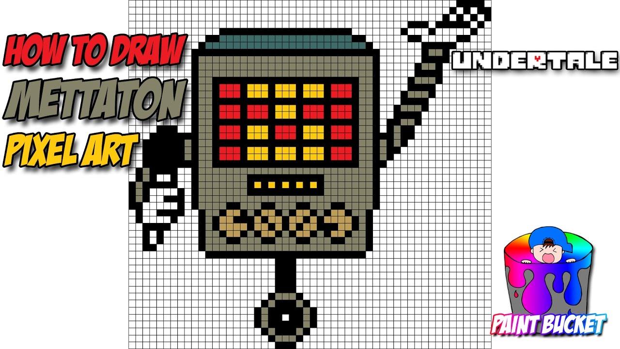 How To Draw Mettaton Undertale Drawing Undertale Pixel Art 8 Bit Tutorial Youtube