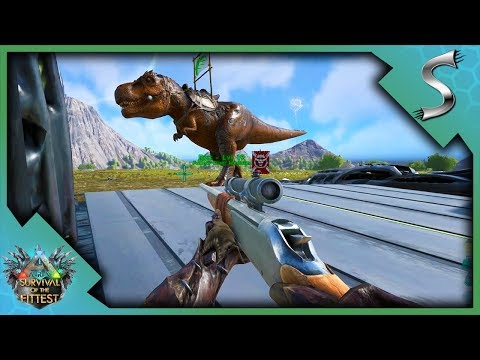 WE STOLE THEIR REX! A CLUTCH VICTORY WITH LONGNECKS! - Ark: Survival of the Fittest [SOTF Gameplay]