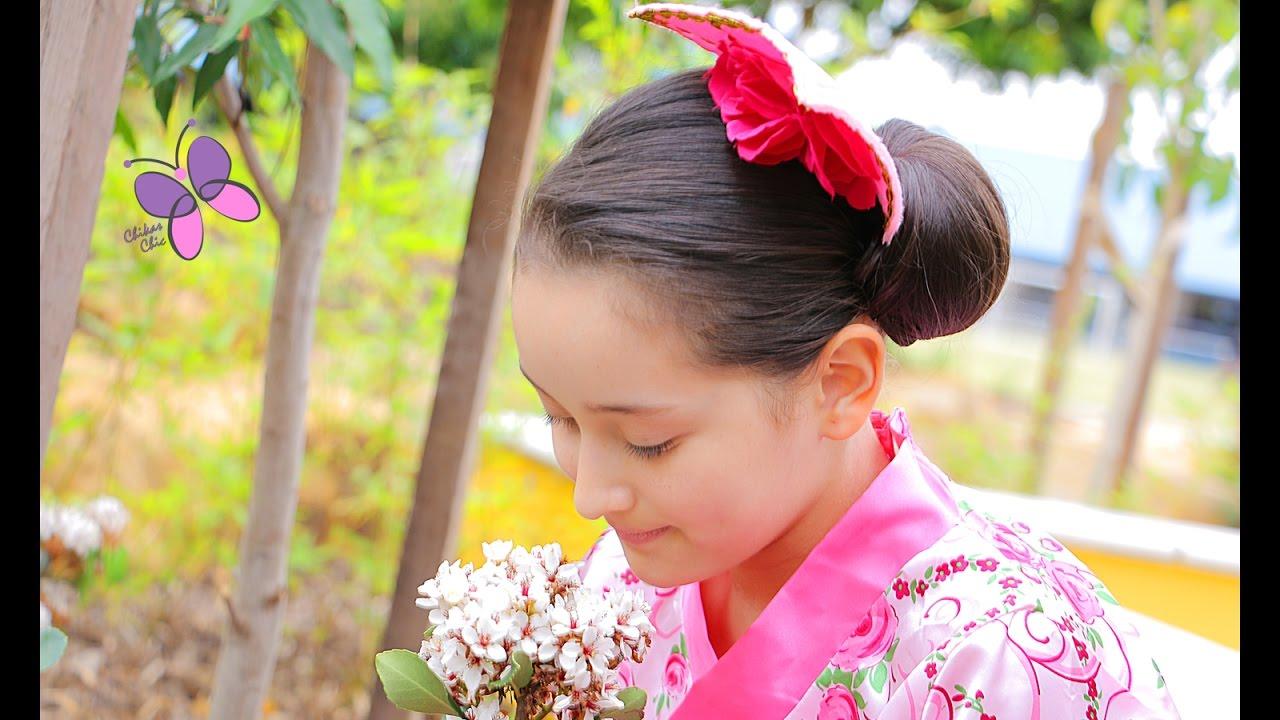 Peinado Para Disfraz De Japonesa Youtube