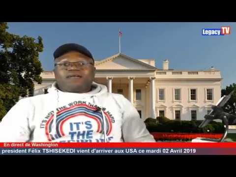 SUIVEZ L'ARRIVÉ DU PRÉSIDENT FÉLIX TSHISEKEDI À WASHINGTON DC EN IMAGES