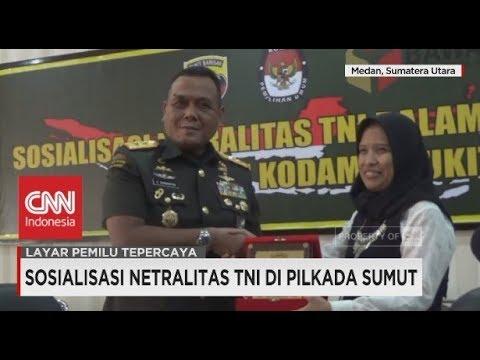 Sosialisasi Netralitas TNI Di Pilkada Sumut