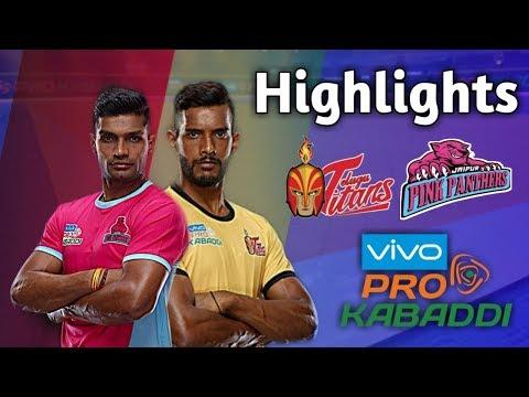 jaipur-pink-panthers-vs-telugu-titans-full-match-highlights-|-vivo-pro-kabaddi-2019