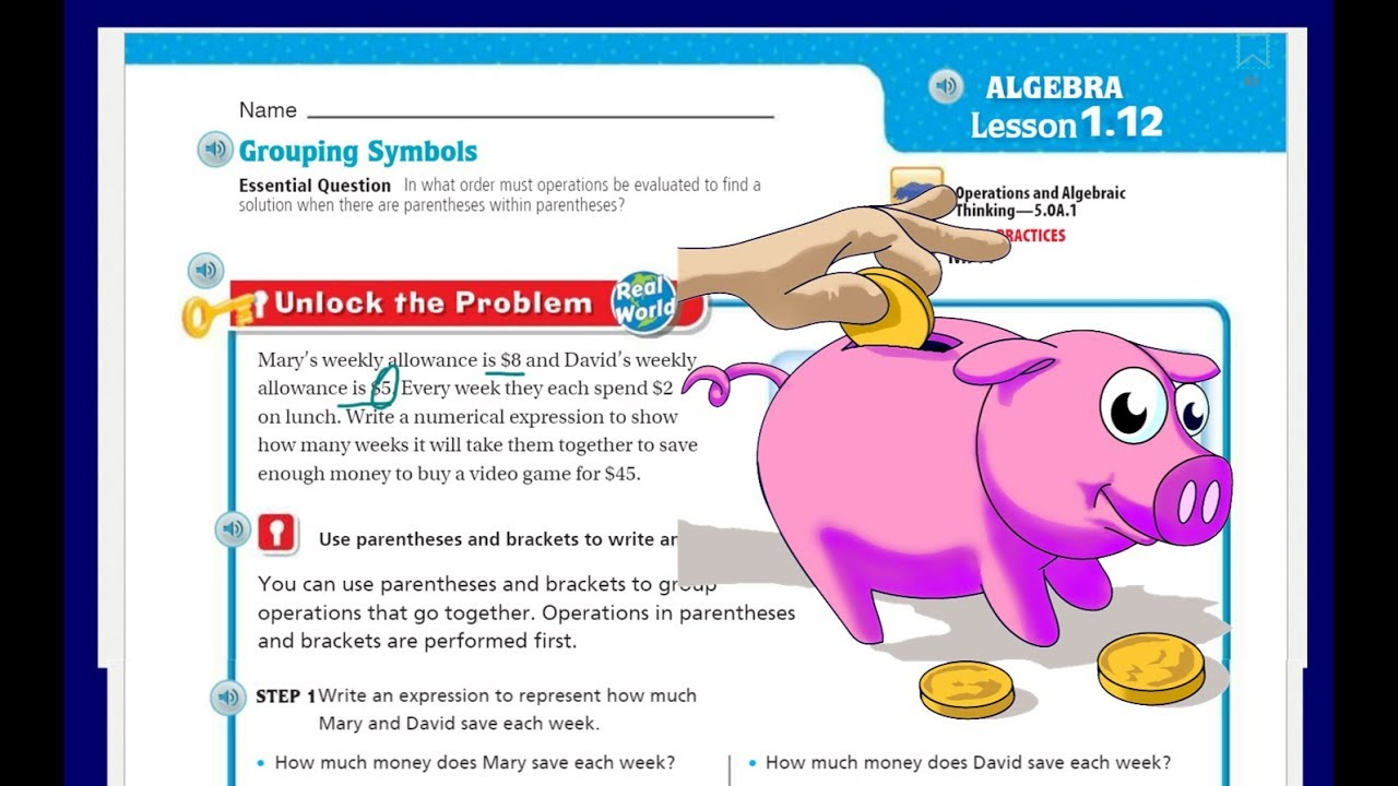 hight resolution of Go Math 5th Grade Lesson 1.12 Grouping Symbols - YouTube