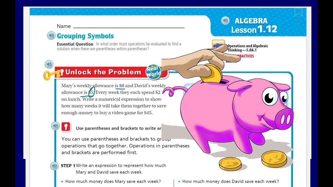 medium resolution of Go Math 5th Grade Lesson 1.12 Grouping Symbols - YouTube
