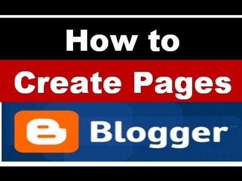 How to create pages and menu in blogger or...