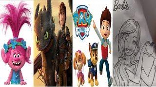Trolls Paw Patrol How To Train Your Dragon Barbie 8 Surprise Eggs #120