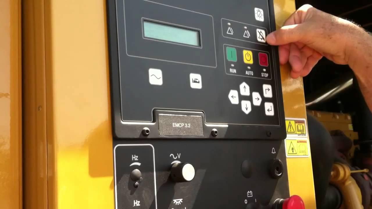 hight resolution of caterpillar generator maintenance tutorial video 2