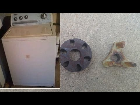 How To Fix A Washing Machine That Does Not Spin Motor Coupler Problem Youtube