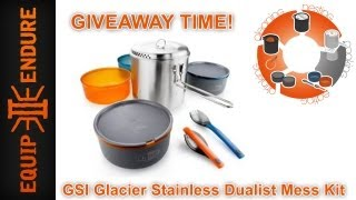 GSI Outdoors Stainless Dualist Mess Kit Giveaway by Equip 2 Endure