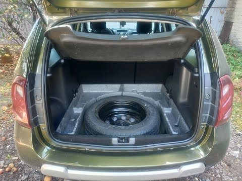 Доработка и восстановление органайзера в багажнике Дастера, фальшпол