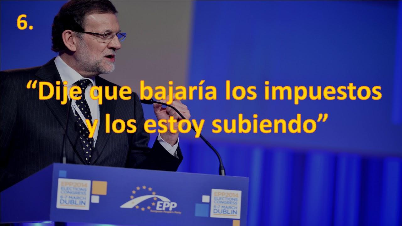 Las 10 Frases De Mariano Rajoy Sin Sentido Youtube