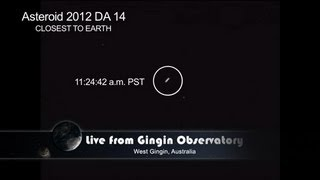 Asteroid Flyby - Actual Video Footage   2012 DA14   NASA JPL Space Science Video