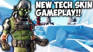 New TECH OPS Skin Gameplay In Fortnite Battle Royale..
