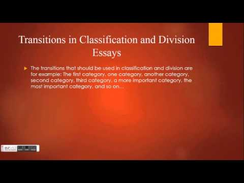 classification and division  classification and division