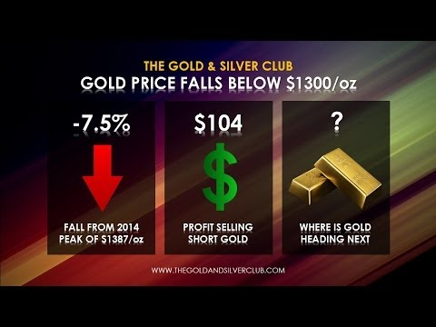 The Gold & Silver Club | Gold Silver Trading | 086 - Gold Price Falls Below $1300 An Ounce