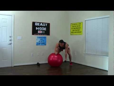 20 Min Exercise Ball Workout - HASfit Exercise Ball Exercises - Stability Ball Workouts Swiss Ball