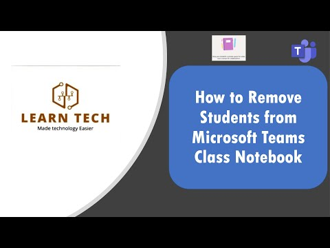 How to delete students from Microsoft Teams Class Notebook