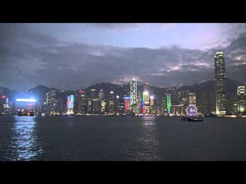 View Across Victoria Harbour from Tsim Sha Tsui Promenade - Hong Kong - 4K UHD