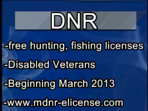Free hunting and fishing licenses for disabled veterans for Free fishing license for veterans