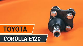 Kā nomainīt priekšējā lodbalsts TOYOTA СOROLLA E120 PAMĀCĪBA | AUTODOC