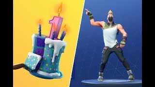 Fortnite [PS4] | Fortnites First Birthday! New Skins & SMG! | Warpaint + Rose Skin!