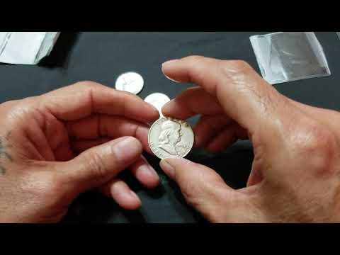 1950 No mint mark Franky Silver half dollar  1962 y 1964 Silver quarter
