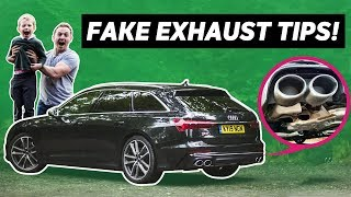 homepage tile video photo for 4-Year-Old Reviews The Audi S6 (Yes, The One With The Fake Exhaust Tips)