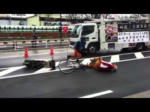 Stuntmen Demonstrate Bicycle Safety(?) in Tokyo