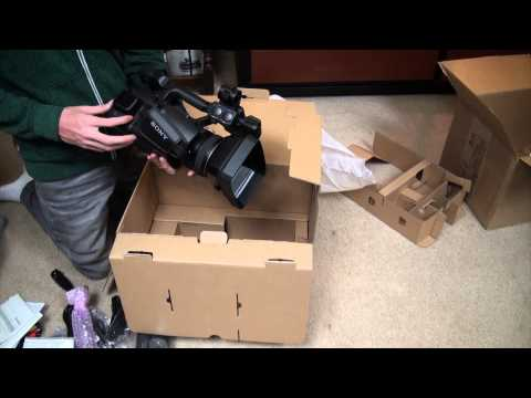 Unboxing my new Sony PXW Z100 4K Camcorder