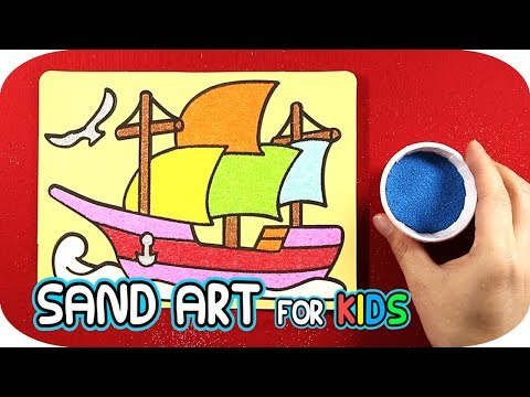 Sailing Vessel Sand Painting Art for Kids