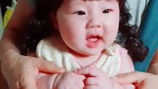[육아 브이로그,Vlog]웃음터진 딸래미 - 아기가발